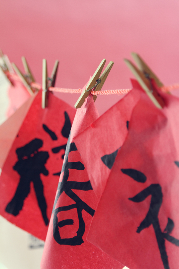 Chinese calligraphy wooden pegs