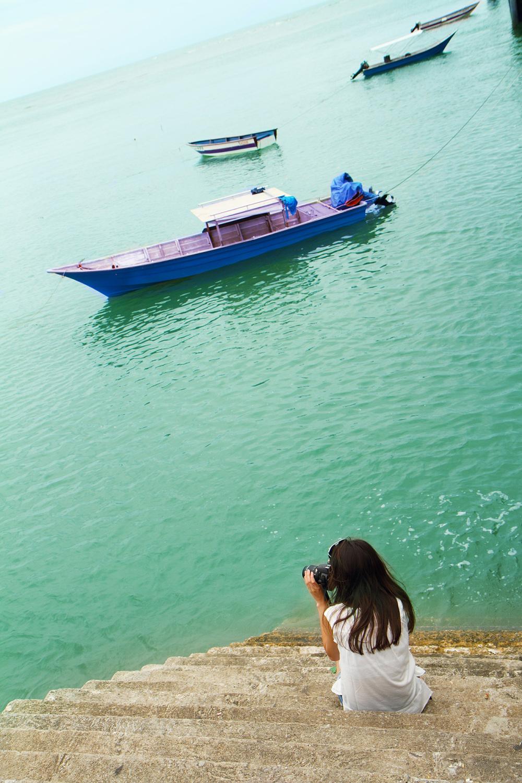 Sea, beach, Sematan