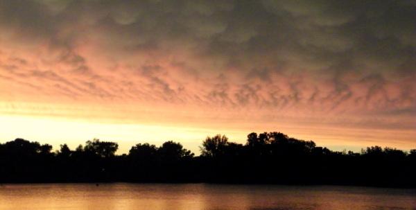 Sunset after summer storm