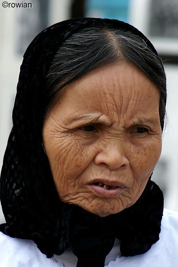 Aziatische vrouw.