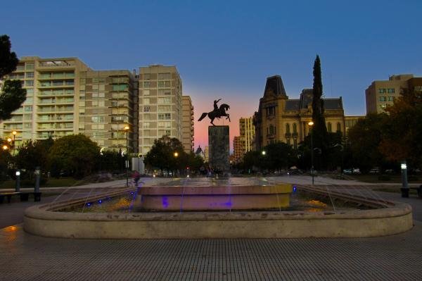 Vista urbana ``Plaza San Martín´´