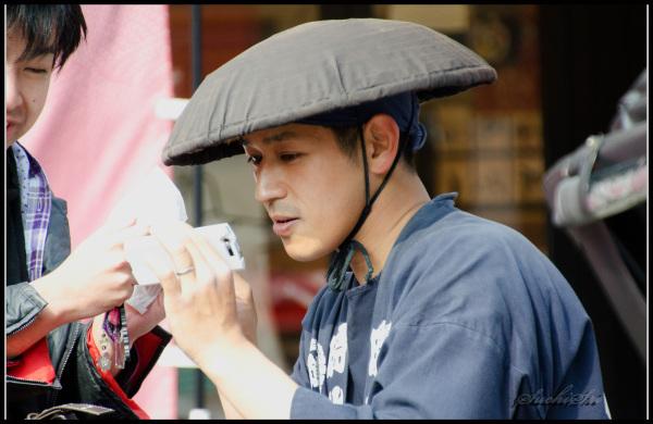 Japanese handsome Rikshawala...