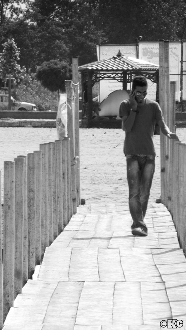 walk man in a sunny day