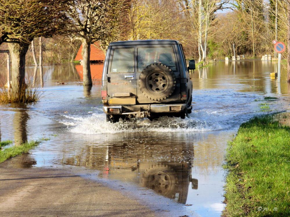 Route inondée