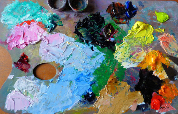 La palette de l'artiste