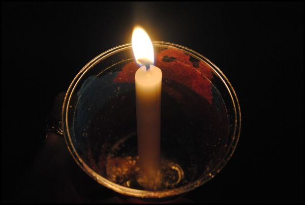 A Candle from a Prayer Walk