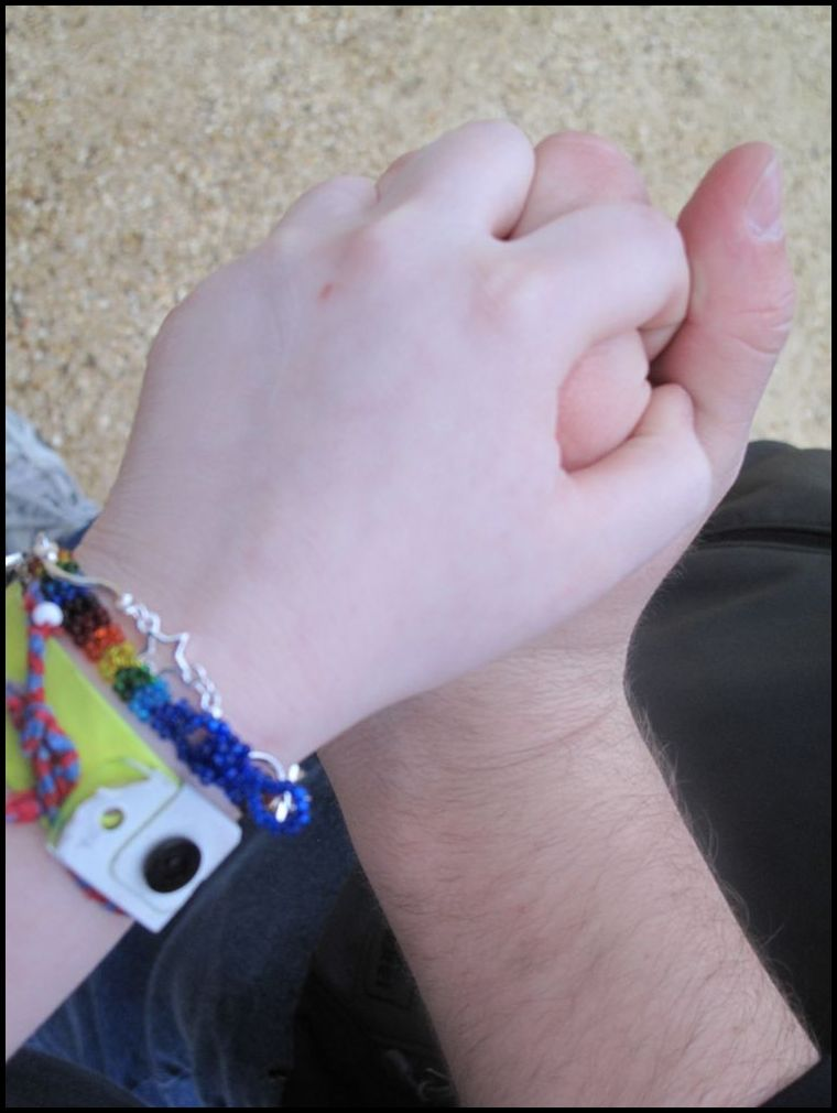 Cody and Clem Holding hands