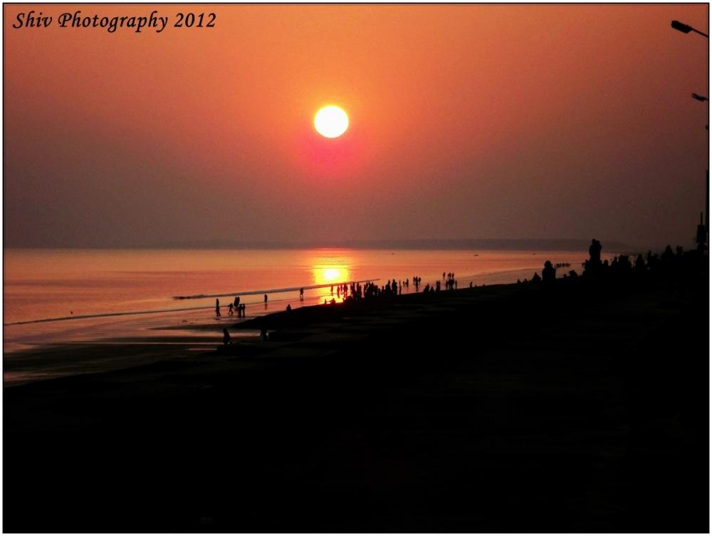 A Beautiful Sunset At Digha (Kolkata).