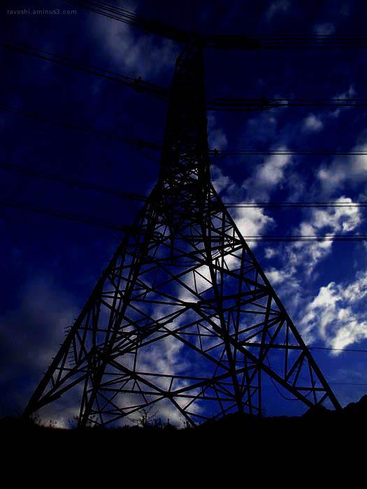 dark blue, mast, electrification