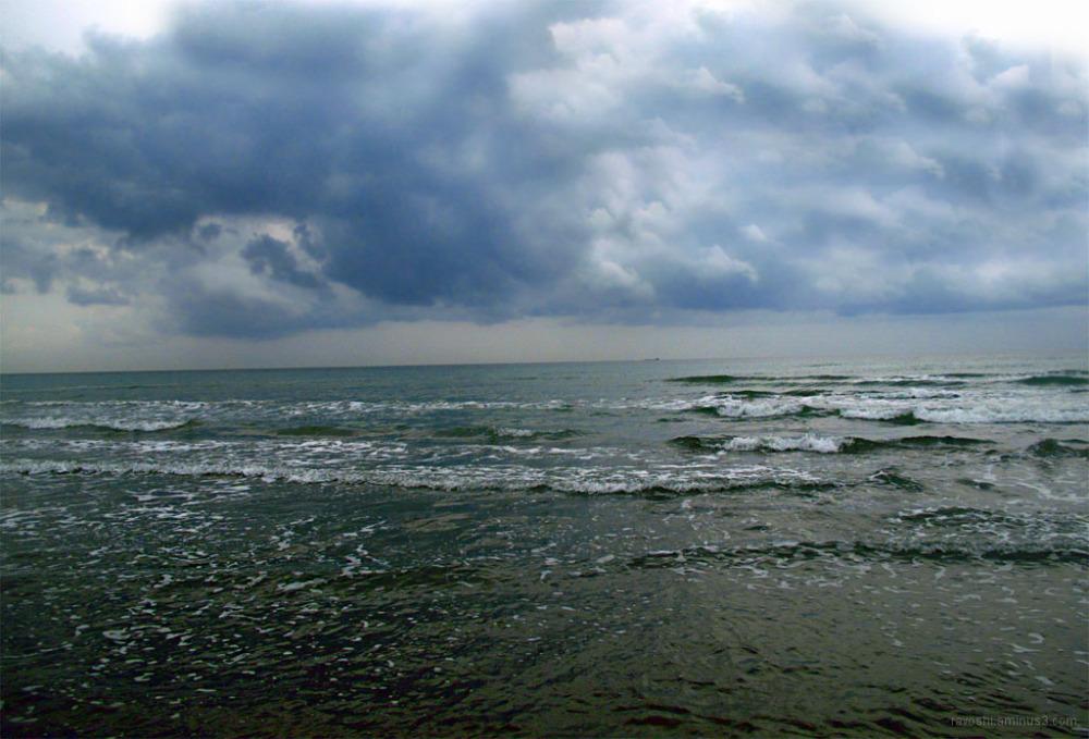 Horizon, sea, wide, nature, caspian sea, lonelines