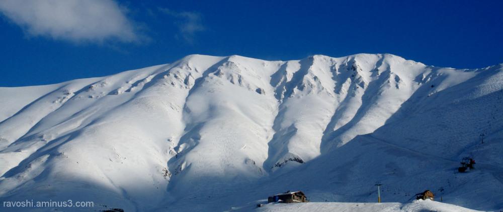 mountain, snow, ski, shelter