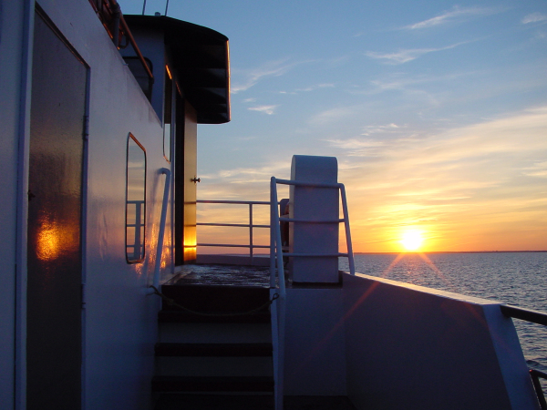 Sunset on the ferry