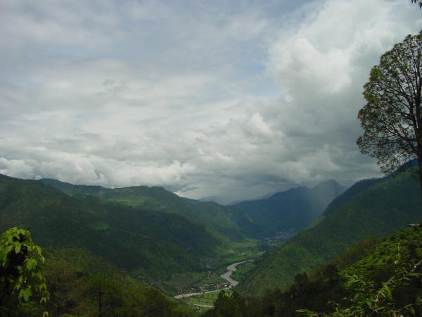 The valley in the rainy season