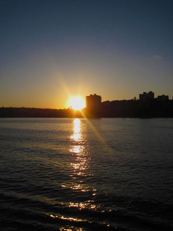 Sunset over Manly, Sydney
