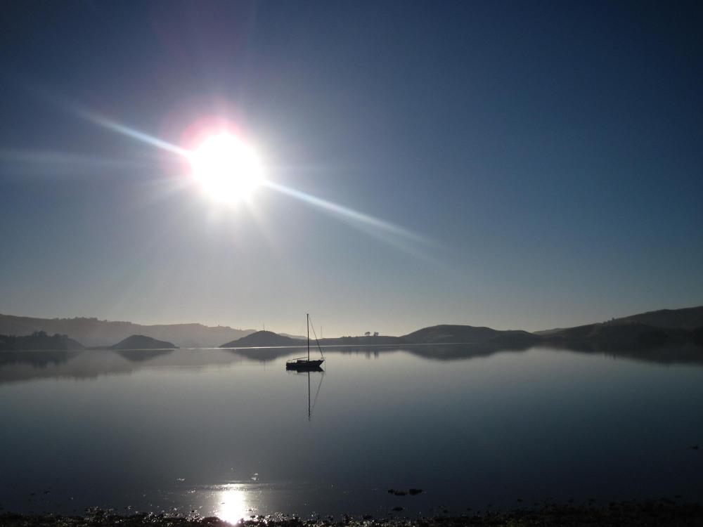 Sunrise over the bay, Dunedin