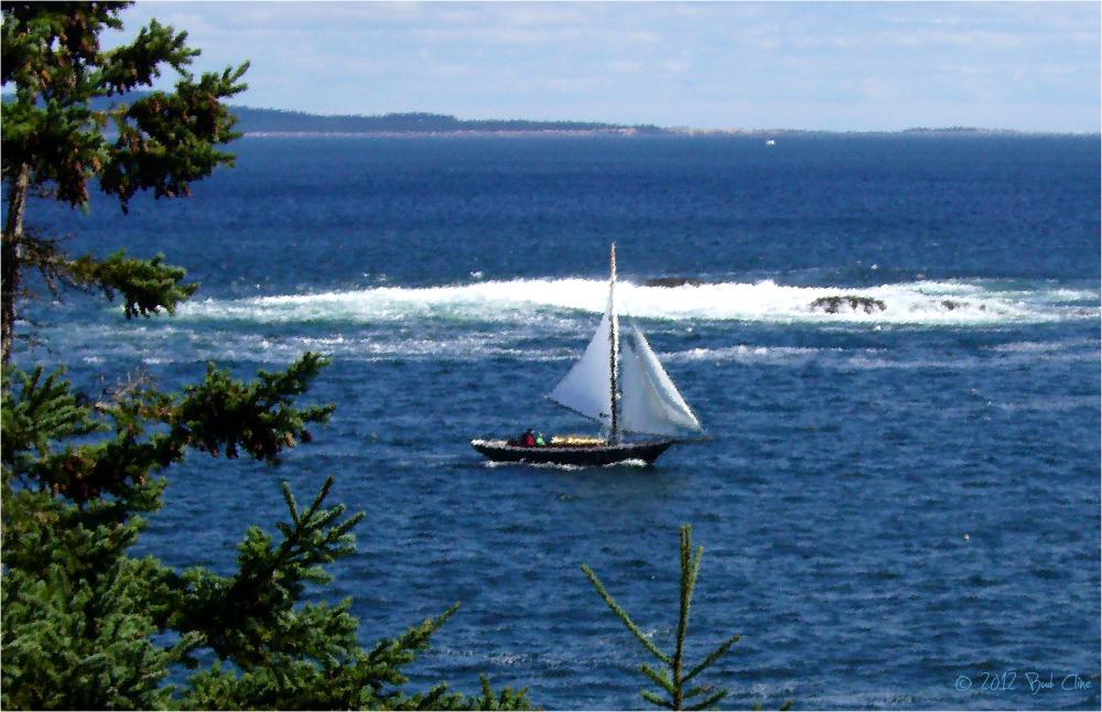 Sailing Along Otter Cliffs