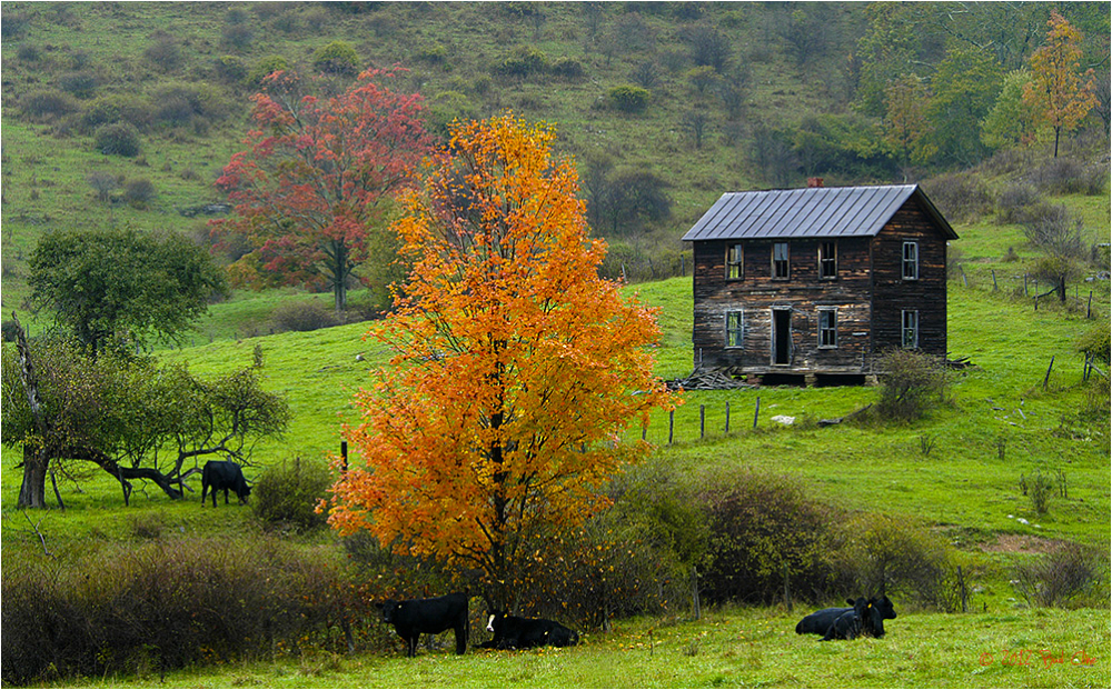 Old west virginia farm house in fall landscape rural for Pictures of small farm houses