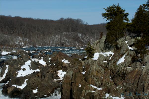 Great Falls Scene in Winter