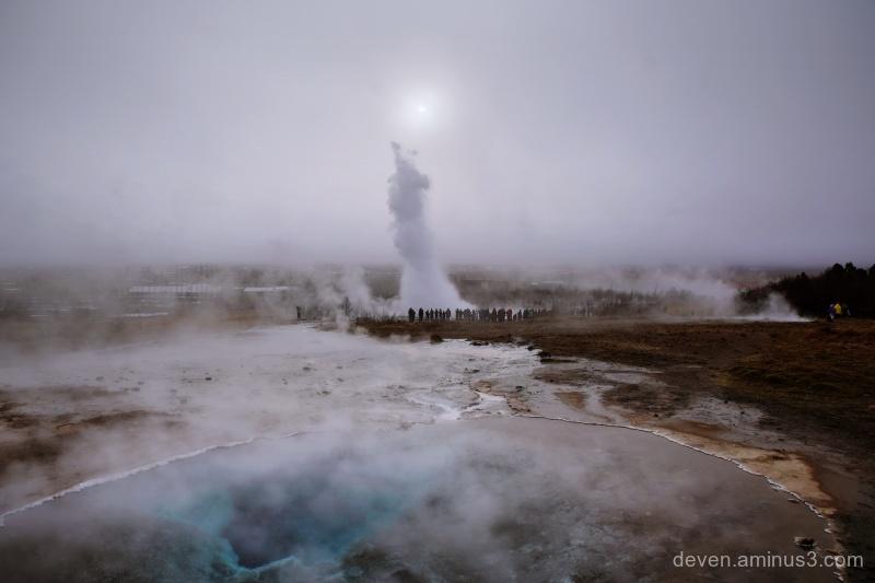 Strokkur Geyser Eruption, Iceland