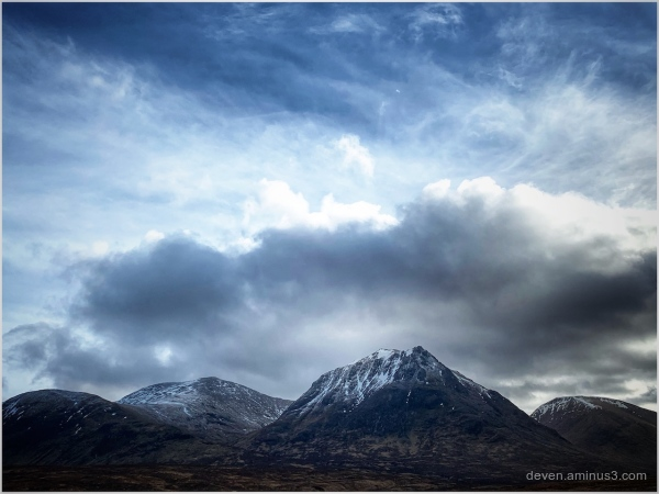 Clouds over Glen Etive