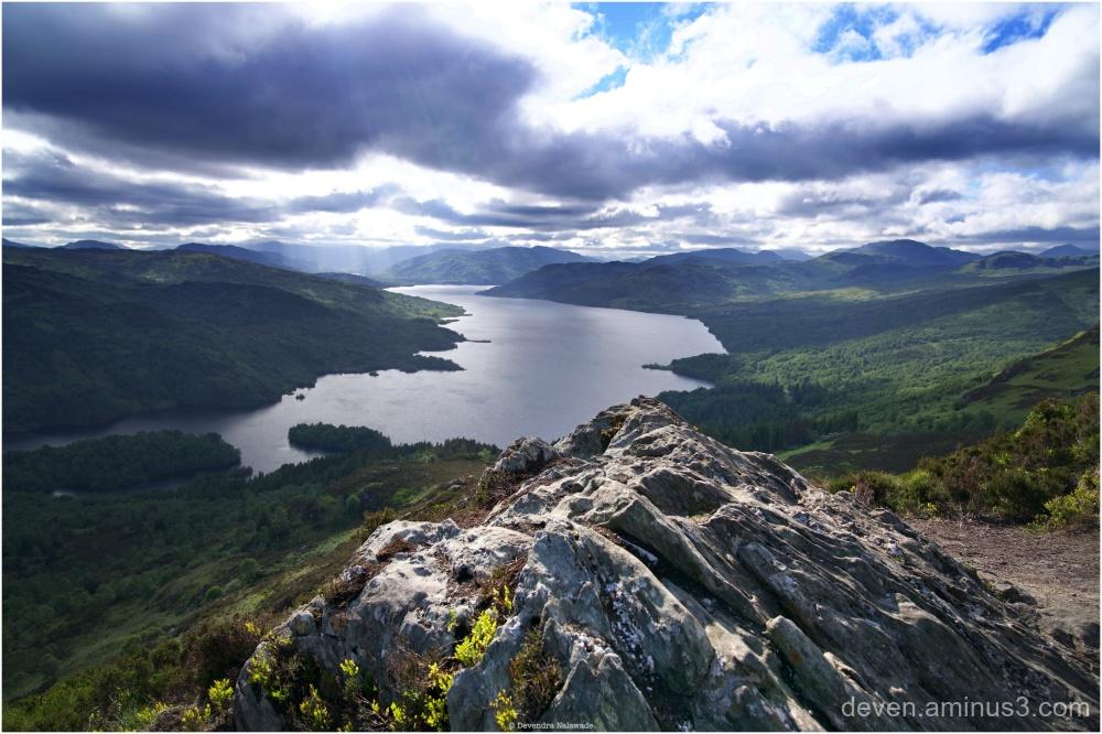 Loch Kathrine from Ben A'an Summit