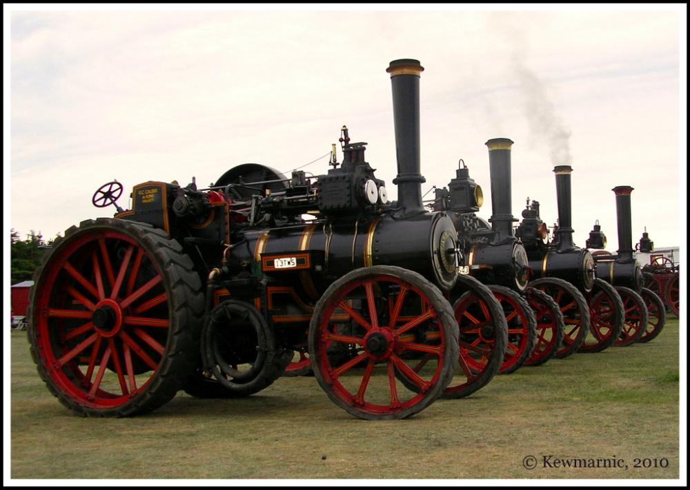 Traction Engines, Leeston Vintage Fair, 2010
