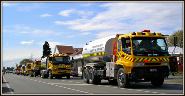 Yellow Fire Trucks