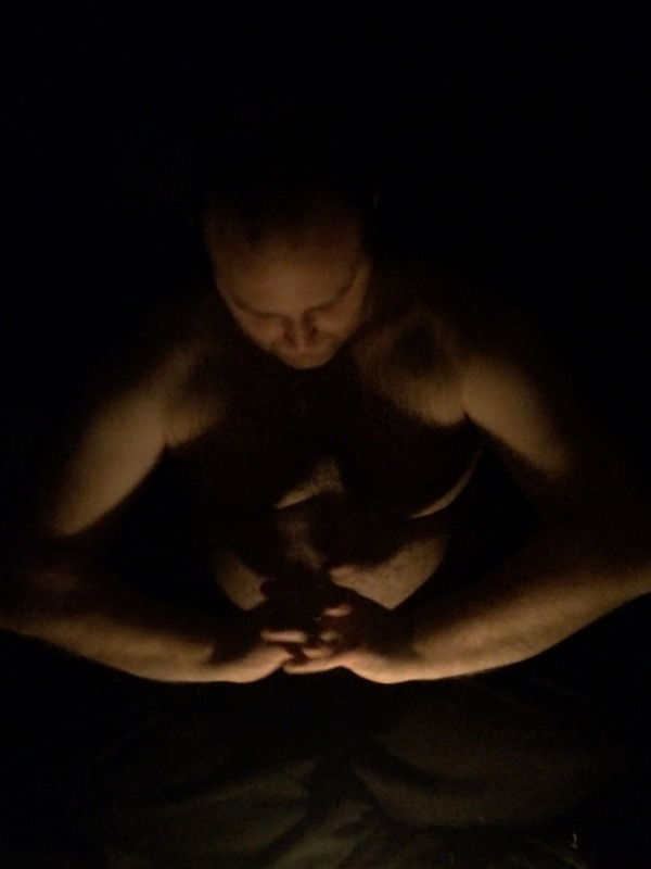 Man By Candlelight