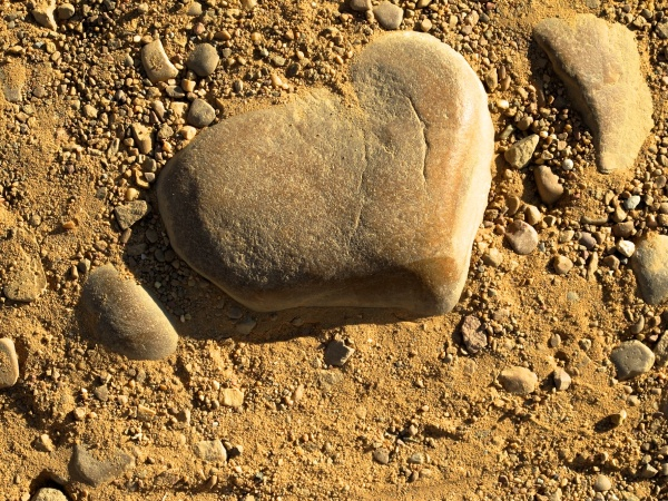 Rock heart, Camino Frances Spain
