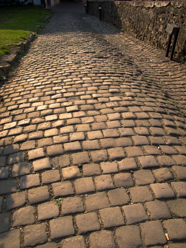 Cobblestone path,Citadelle St. Jean Pied de Port