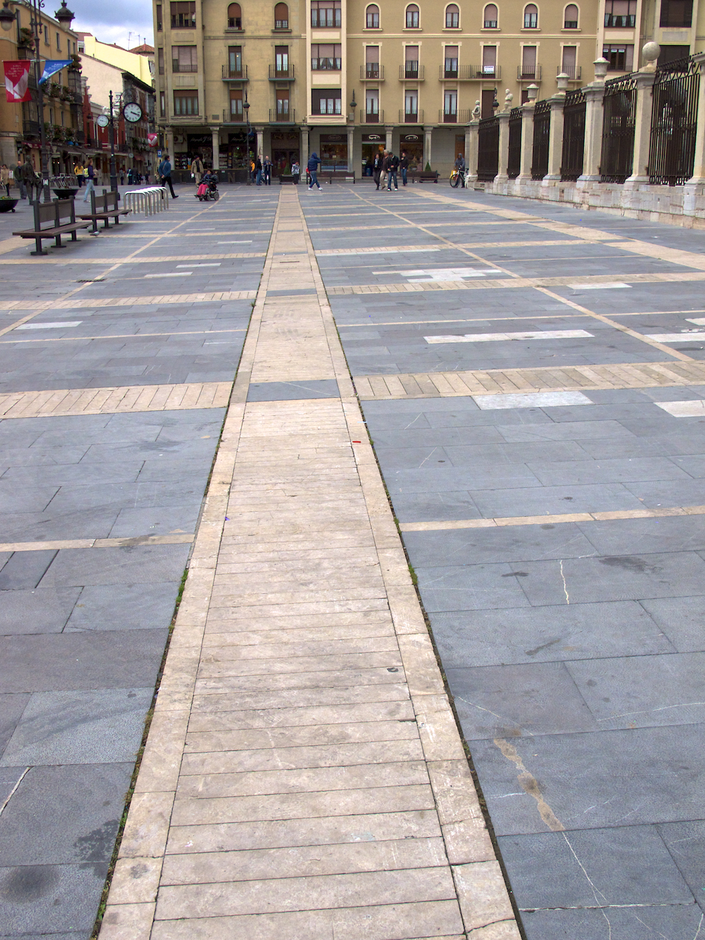 Square in front of Cathedral, Leon Spain