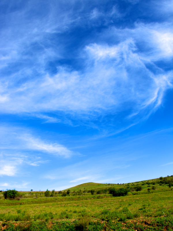 Sky and clouds on the Camino, Spain