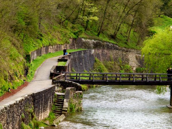 Bridge and path, River Nive, St. Jean Pied de Port