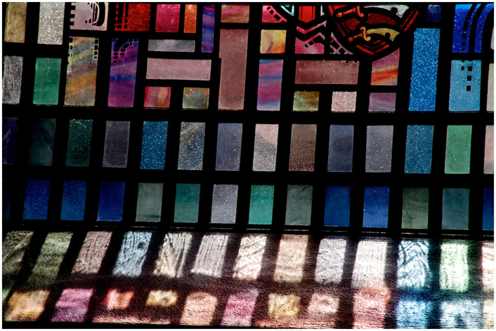 Stained glass shadows