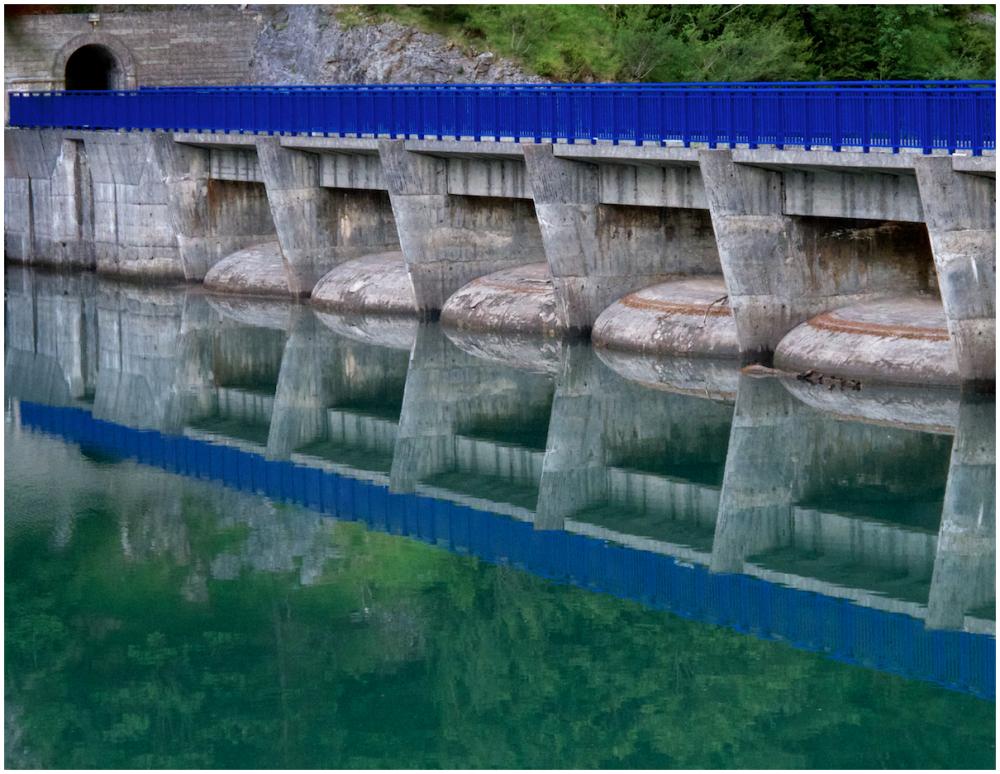 Dam reflection