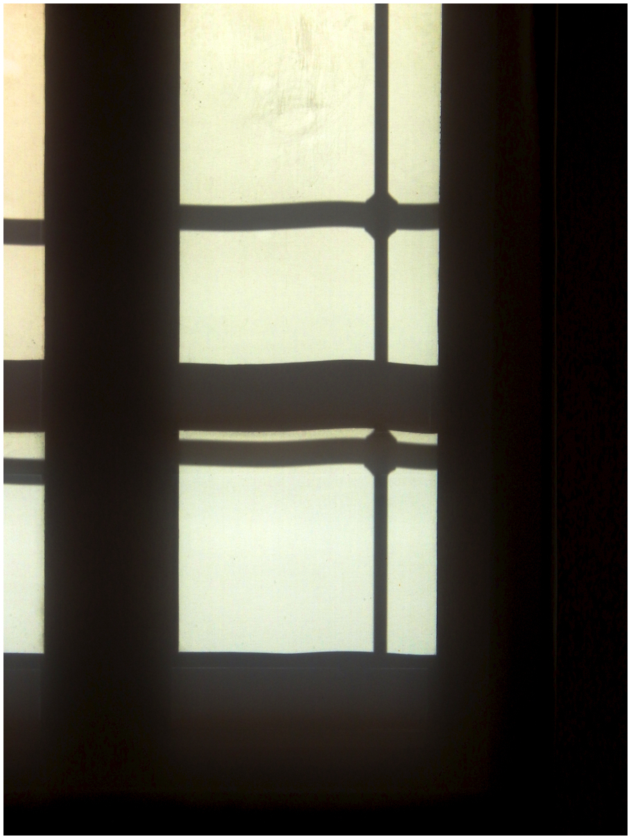 Silhouetted window