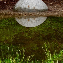Reflection on a rock