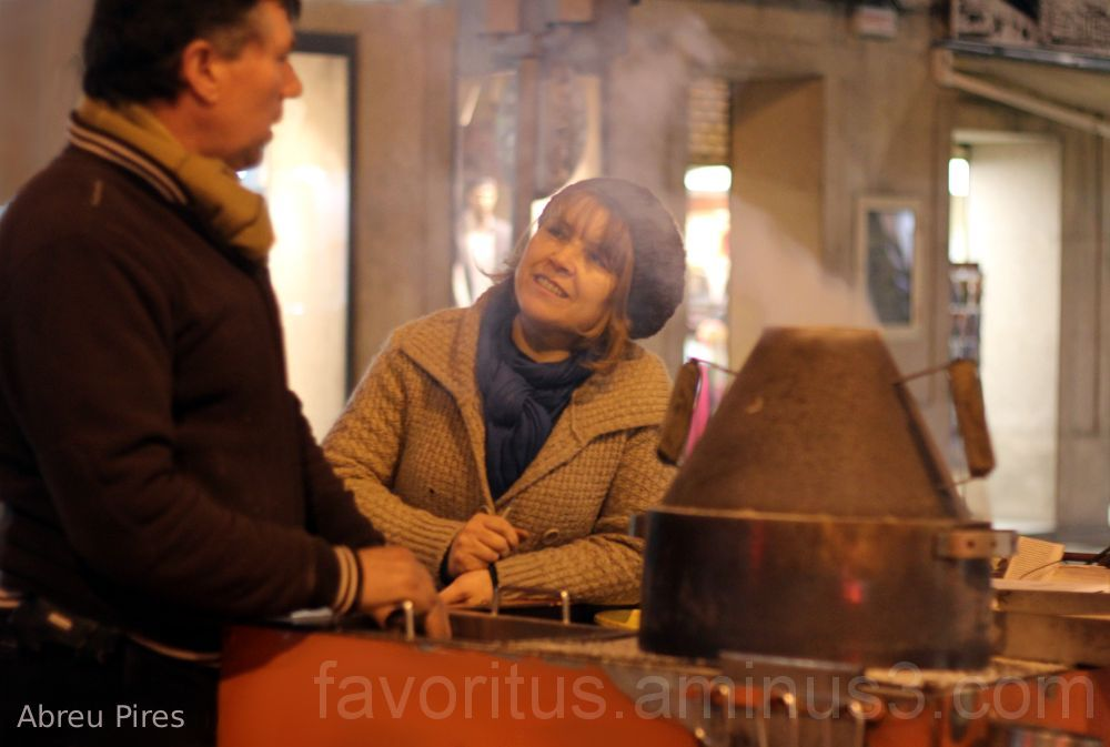 Street Vendor Roasted Chestnuts Photo
