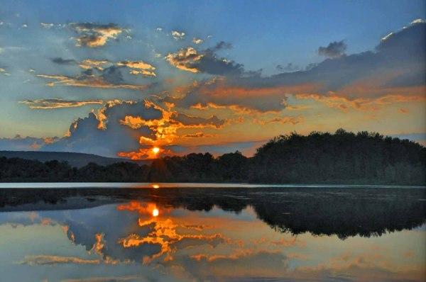 Crane Lake Sunset in HDR