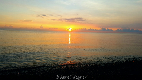 Sunrise at Tulamben, Bali