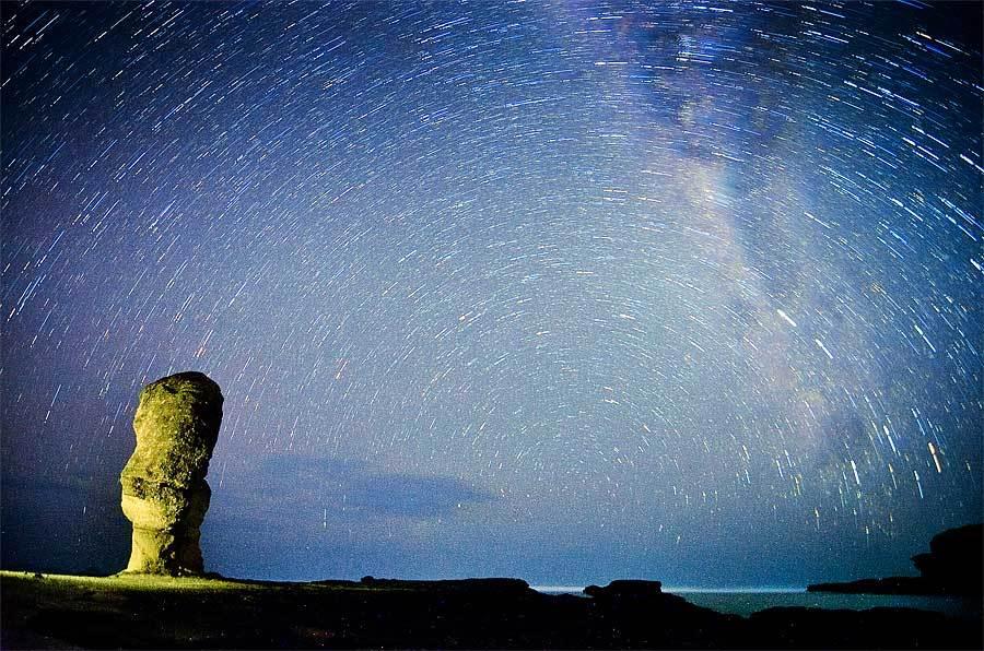 star trail di batu payung