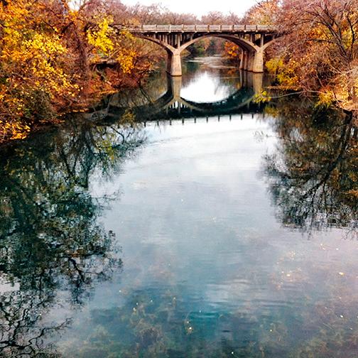Bridge over Barton Creek in Austin, Texas