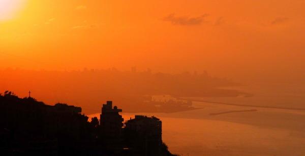 Beyrouth dans la brume