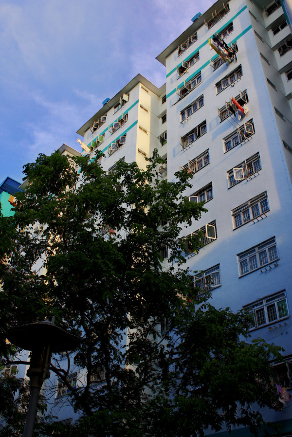 HDB flat in the evening
