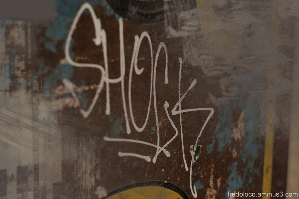 Graffiti in Paris near Gare du Nord