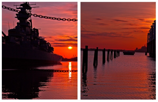 Sunset at Town point park, Norfolk, VA