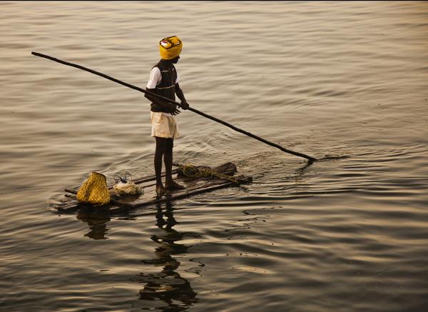 Chennai fisherman boat India