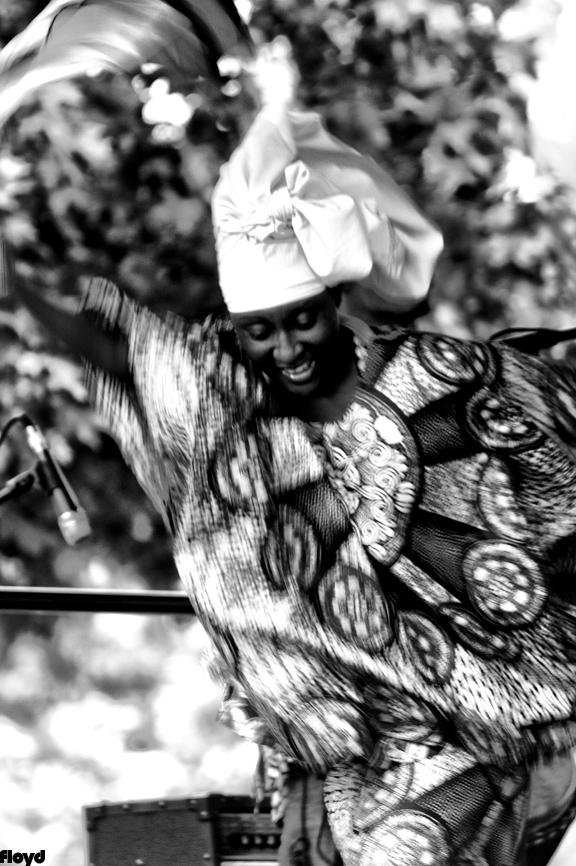 African dance group performing in Royal Oak