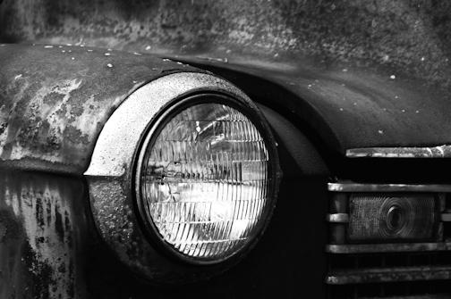 headlight of old truck