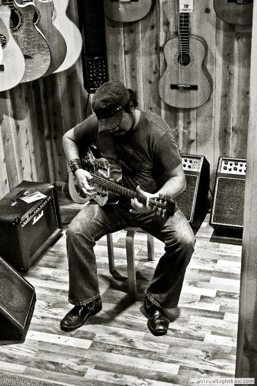 Jeff Stewart at Guitar Center